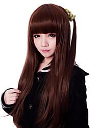 Zipper Japanese Brown 71cm Long Straight Classic Lolita Wig
