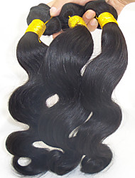 "3Pcs Lot 10""-28"" Unprocessed Peruvian Human Hair Extensions Natural Black Straight 6A Grade Remy Hair for Sales"