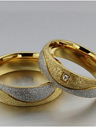 Classic  Unisex As Picture Diamond Couple Rings(As Picture)(2 Pcs)