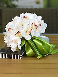 Magnolia Wedding Bouquet Silk Cloth Wedding Bride Holding Flowers