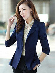 Women's Blue/Pink Blazer , Casual Long Sleeve