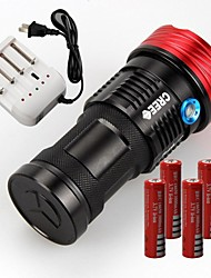 SKYRAY s99 9xCREE XML T6 LED Flashlight Torch Hunting (11000LM,4x18650,Black)