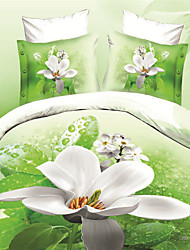 Shuian®Bedding Sets Duvet Quilt Cover Bed Sheet 4pcs Set Bed In A Bag Bedlinen Bed Clothes