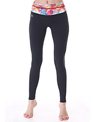 Yokaland Yoga Pants Body Shaper Fit Slim Yoga Ankle Legging With Waist Leaf Print Sports Wear