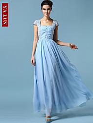 Yalun vestido maxi delgado sexty ™ de las mujeres de la moda clásica