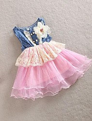 Girls Dancing Dress Children's Sleeveless Dress Summer Party Baby Casual Dress Princess Cowboy Dress Children Clothing