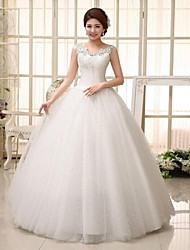 Ball Gown Wedding Dress Floor-length Straps Lace with