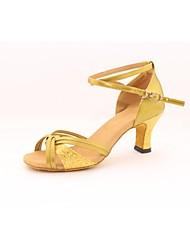 Zapatos de baile ( Plata/Oro/Leopardo ) - Danza latina - No Personalizable - Tacón grueso
