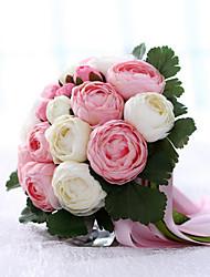 #(1) 1 Une succursale Soie Pivoines Fleur de Table Fleurs artificielles #(23x23x30 cm (9.06x9.06x11.81 inch))