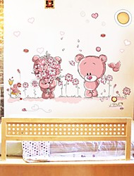 Wall Stickers Wall Decals, Lovely Romantic Bears PVC Wall Stickers