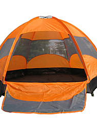 AOTU Outdoor 5-8 Persons Double Angle Six Waterproof Fold Camping Tent