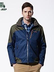 Men's Casual Pure Long Sleeve Regular Jacket (Nylon/Polyester)