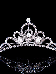 Women's / Flower Girl's Alloy Headpiece-Wedding / Special Occasion / Outdoor Tiaras Silver Round
