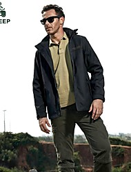 Men's Casual Pure Long Sleeve Regular Jacket (Nylon)