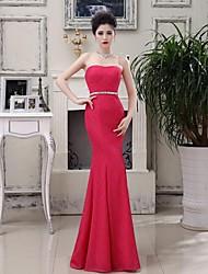 Fiesta formal Vestido Corte Sirena Hasta el Suelo - Strapless Encaje