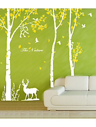 Wall Stickers Wall Decals,  X Large Tree with Deer Monkey Wall Sticker 3 Colors