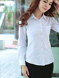 Camisa (Algodão) Casual/Trabalho - Média - Normal