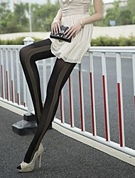 Women Stripe On Side Patterned 120Dennis Tights / Pantyhose#900153