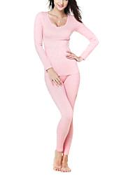 fibra trecho conjunto underwear térmico das mulheres