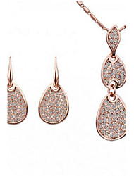 Women'sThe European and American fashion brand necklace earrings suit(1 set)8096