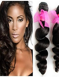 "3PCS A Lot Peruvian Hair Loose Wave #1B 8"" ~ 34"" Hair Weaves"