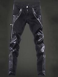 ocasião padrão calças estilo calça dos homens