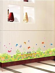 fleur sticker mural PVC plinthe