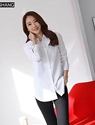 bs®women Casual / Übergrößen Mikro-elastische Langarm regelmäßigen Shirt (Baumwolle)