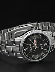 cinta de aço inoxidável Chenxi impermeável com calendário de alta qualidade relógio de quartzo