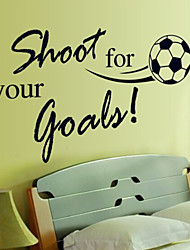 Environmental Removable Football Pattern PVC Wall Sticker