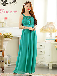 Women's Elegant Knee-length Chiffon Bridesmaid Dress