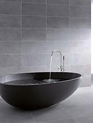 Duscharmaturen/Badewannenarmaturen - Zeitgenössisch - Handdusche inklusive/Bodenstand - Messing ( Chrom )