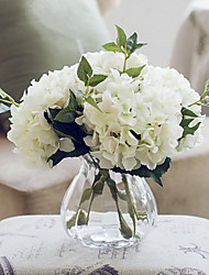 Калифорния пять белых гортензий искусственные цветы с вазой