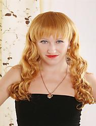 European and American Fashion Long Golden Hair Wig