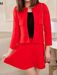 Women's Pink/Red/Orange Dress , Bodycon/Party Long Sleeve