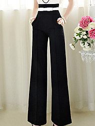 Women's Vintage Simplicity Skinny High Waist OL Style Loose Leg Pant