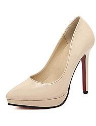 Mujer-Tacón Stiletto-Tacones / PuntiagudosVestido-Semicuero-Negro / Rosa / Rojo / Beige