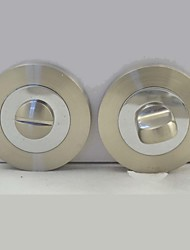 Brushed Nickel And Chromed Alloy WC Escuhteon, WC Rosette, WC Rose, Escuhteon With Knob