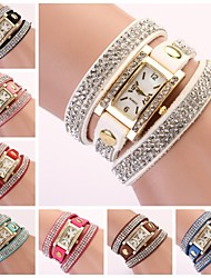 Women's Watch Rectangular Diamond Dial Rhinestone Band