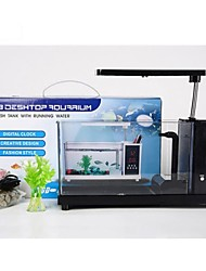 Mini All-in-1 USB Destop Aquarium Fish Tank with LED Light  Touch Pen case