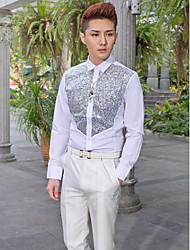 Shirts Classic (Semi-Spread) Long Sleeve Cotton/Polyester White