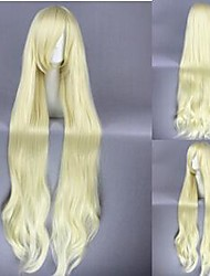 120cm Long Culy Kagerou Project-Kozakura Mari Yellow Anime Cosplay Hair Wig