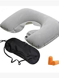 viaggio creativo resto in tre pezzi (cuscino del collo + eyeshade + tappi per le orecchie) (grigio)
