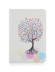 9.7 Inch 360 Degree Rotation Love Tree Pattern with Stand Case and Pen for iPad Air /iPad 5