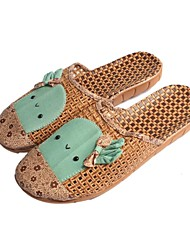 Women's Shoes Bamboo Low Heel Comfort  Closed Toe Slippers Casual Green/Pink/Coral