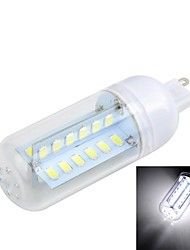 G9 8W  Cross Board 48-5730 800LM 3000K/6500K SMD Warm/Cool White Light LED Corn Bulb (AC 220~240V)