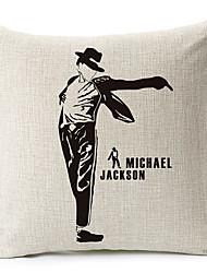 estilo moderno michael jackson todo o corpo modelado algodão / linho cobertura decorativa travesseiro