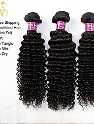 "3Pcs Lot 12""-30"" Unprocessed Raw Indian Kinky Curly Virgin Hair Wefts Natural Black Indian Remy Human Hair Weave Bundles"