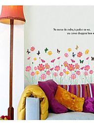 Wall Stickers Wall Decals, Flower type  PVC Wall Stickers