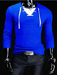 playgame Men's Casual V-Neck Long Sleeve T-Shirts
